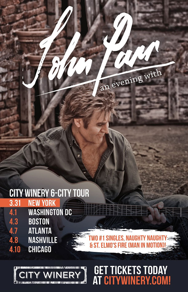 John Parr City Winery American Tour 2019